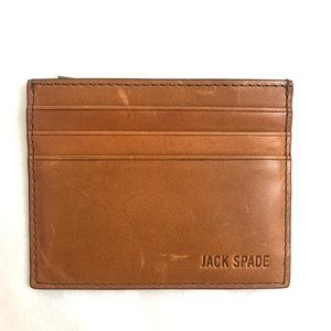 Jack Spade Leather Two-tone Card Case Wallet